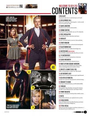 Jenna Coleman dans le Magazine SFX (23 juillet 2014)