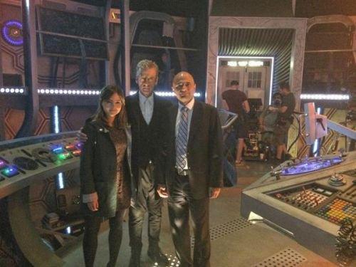 """Jenna Coleman sur le tournage de """"Doctor Who"""" le 22 juillet 2014"""