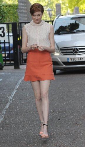 Karen Gillan à Londres le 24 juillet 2014