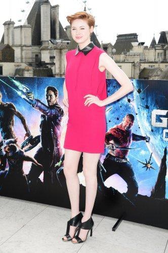 """Karen Gillan """"Les Gardiens de la Galaxie"""" Photocall à Londres le 25 juillet"""