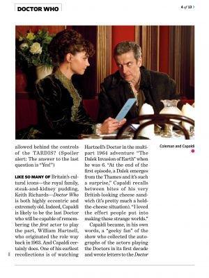 Jenna Coleman dans le Magazine  Entertainment Weekly (le 08 Août 2014)