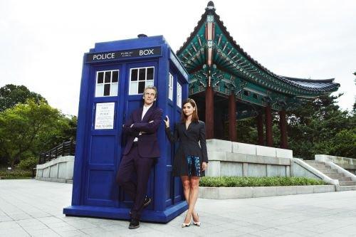 Jenna Coleman Photocall à Séoul le 9 août