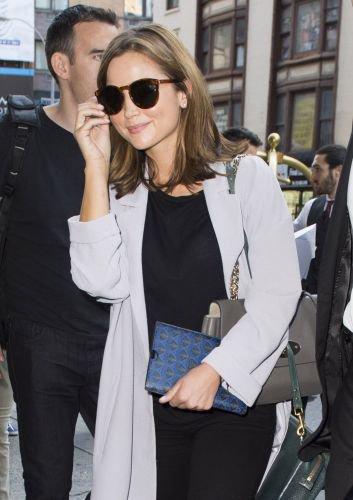 Jenna Coleman arrivant à son hôtel à New York le 13 août