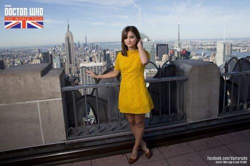 Jenna Coleman Photocall à New York le 15 août