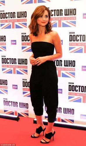 """Jenna Coleman à la tournée de """"Doctor Who"""" le 18 août à Rio de Janeiro"""