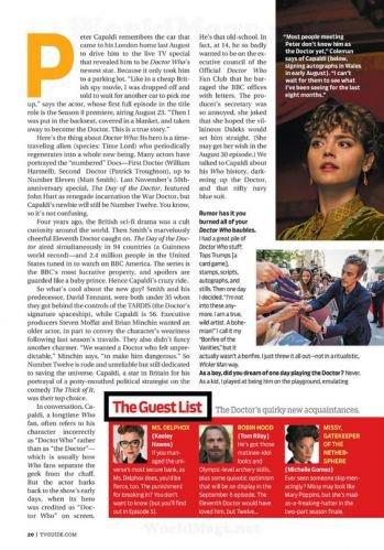 Jenna Coleman dans le Magazine TV and Satellite Week (Septembre 2014)