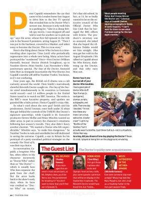 Jenna Coleman dans le Magazine TV Guide (25 août 2014)