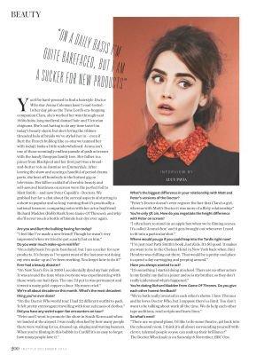 Jenna Coleman dans le Magazine InStyle UK (Décembre 2014)