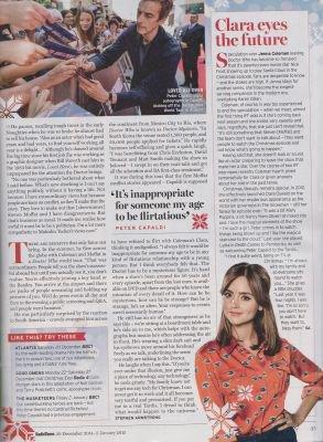 Jenna Coleman dans le Magazine Radio Times (20 décembre 2014 - 02 janvier 2015)