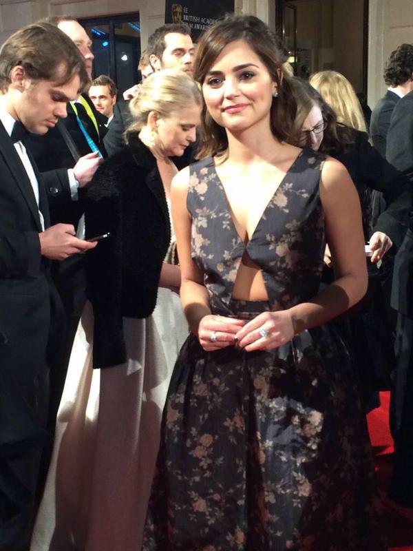 Jenna Coleman aux BAFTAS 2015 le 8 février