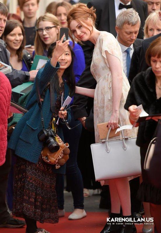 Karen Gillan était au Festival International du film d'Edimbourg le 17 juin