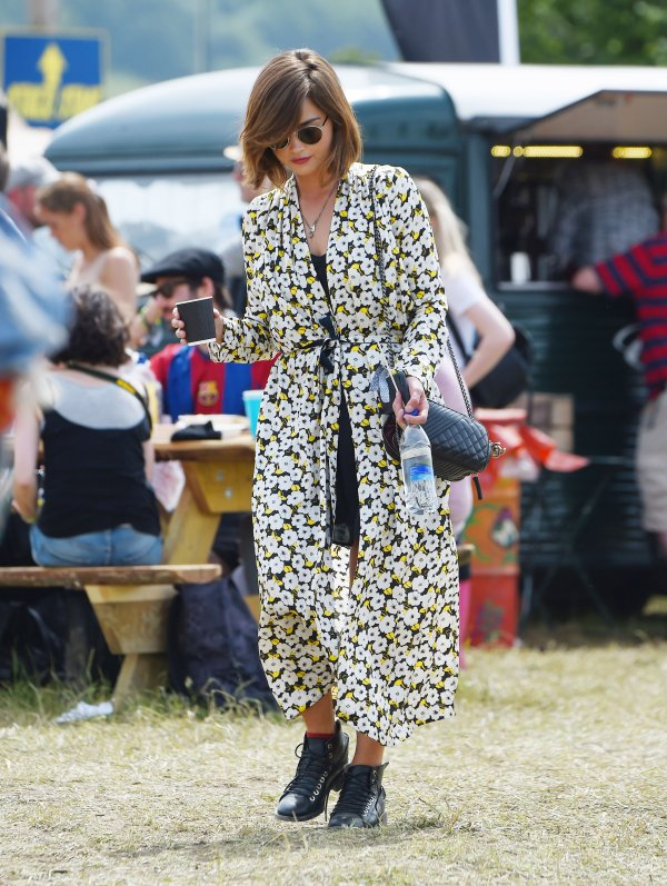 Jenna Coleman au Festival de Glastonbury 2015 le 27 juin
