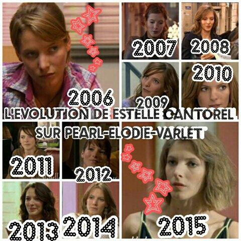 L'Evolution de Estelle Cantorel :