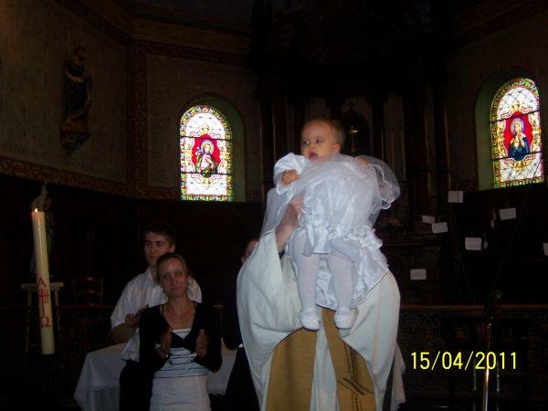 BAPTEME DE NOELYNE LIZY ET CLARA