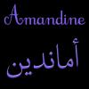 amandine en ecriture arabe