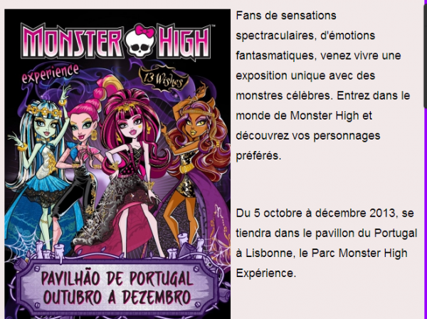 Encien monster high evens