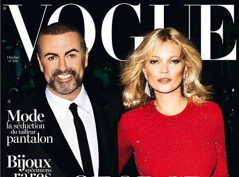 Pour son anniversaire, George Michael s'offre Kate Moss en couverture du Vogue !