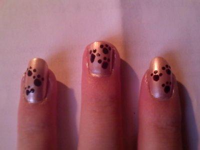 """Nail Art   """"Patte de Chat"""""""