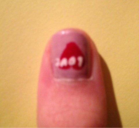 """Nail Art   """"St Valentin"""""""