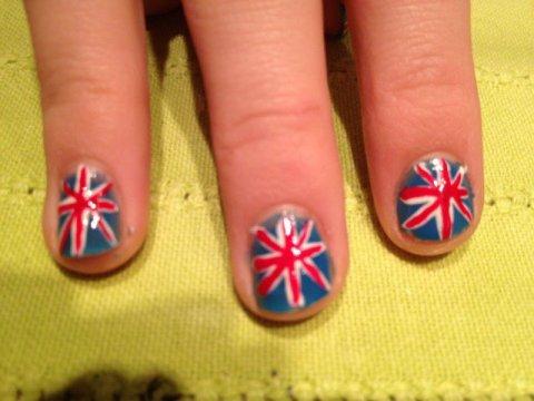 "Nail Art   ""Angleterre"""
