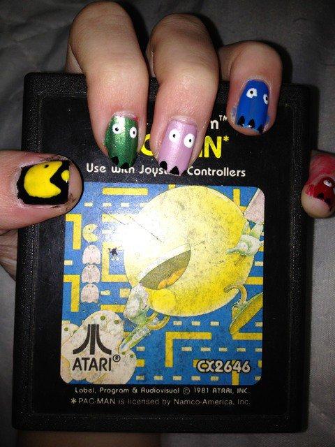 "Nail Art   ""Pac Man"""