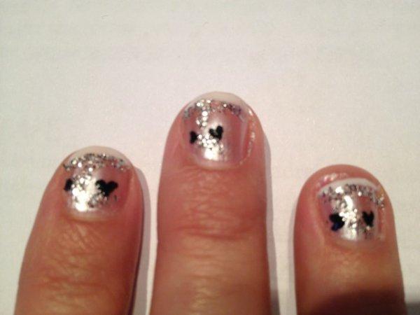 "Nail Art   ""French Coeur"""