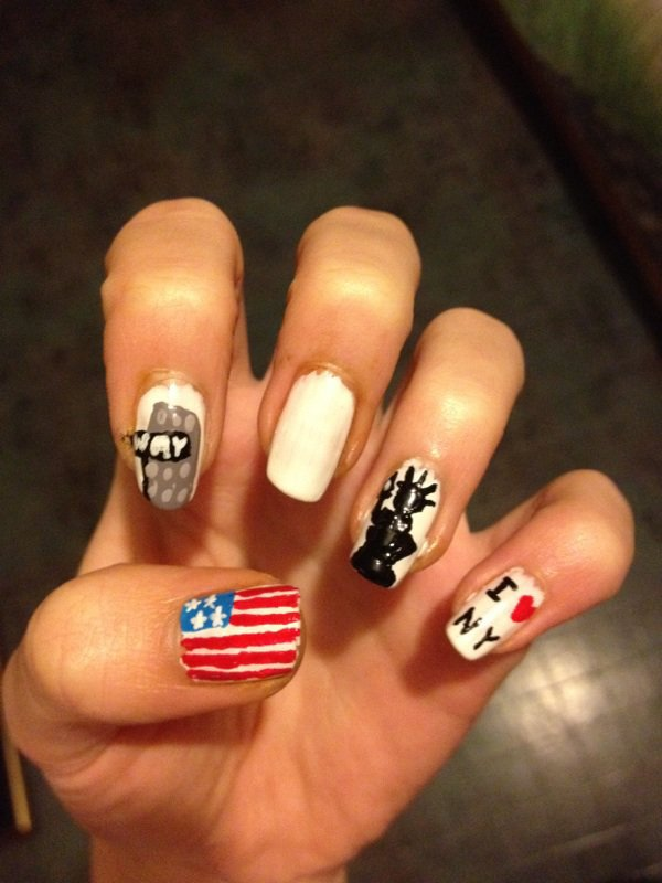 """Nail Art   """"New York"""""""