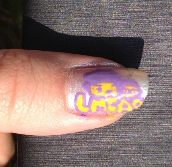 """Nail Art  """"LMFAO"""""""