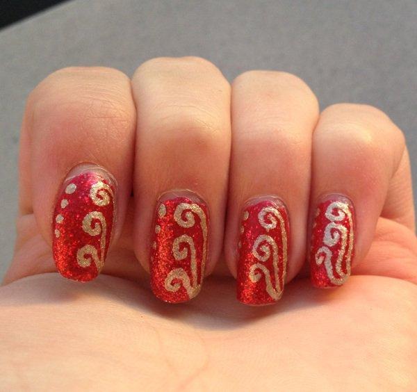 "Nail Art  ""noël 2012"""