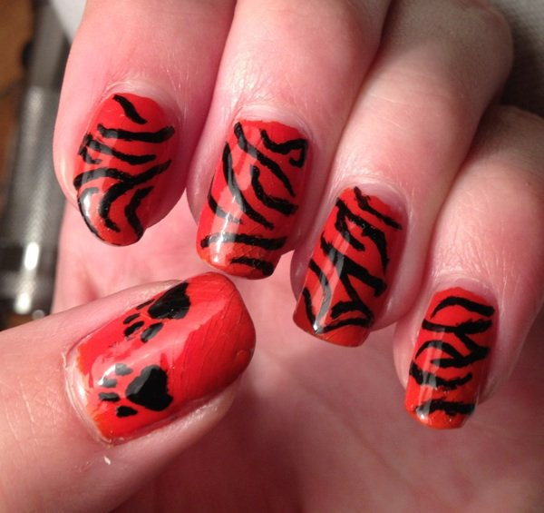 """Nail Art  """"Tiger"""""""