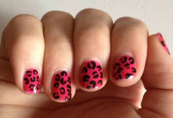 "Nail Art  ""Leopard Rose"""