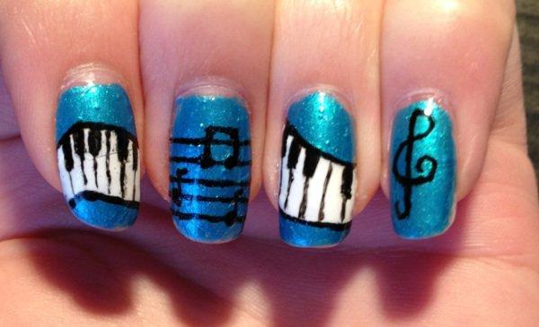 """Nail Art """"Musique n*2"""""""