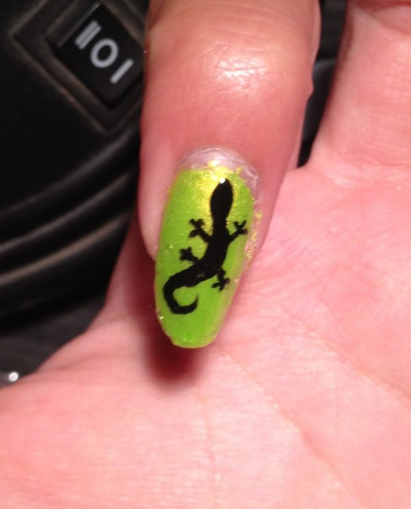 "Nail Art  ""Lézard"""