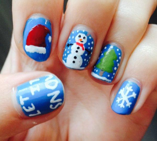 "Nail Art  ""Noël 2013"""