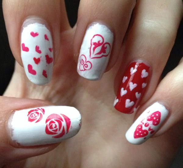 """Nail Art  """"St Valentin 2013"""""""