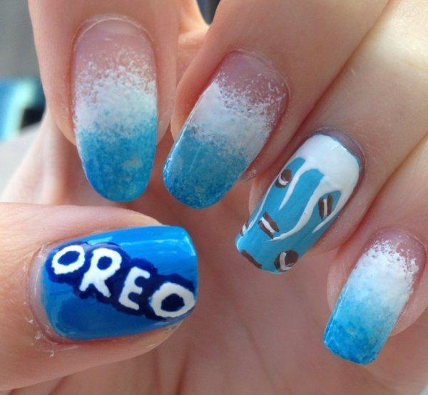 """Nail Art  """"Oreo"""""""