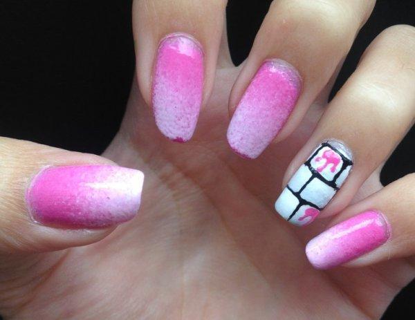 """Nail art  """"Briques"""""""