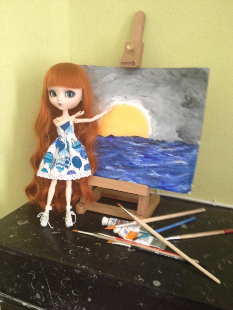 Amelia s'est mise à la peinture