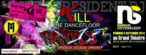 PREVIEW KILL THE DANCE FLOOR BATTLE 5 SEPTEMBRE 2014