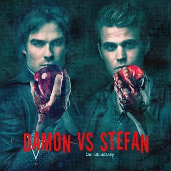 + Article 8: Personnages série: Damon VS Stefan ~ {Delici0usDaily.skyblog.com} Création l Habillage