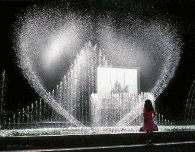 fontaine en coeur