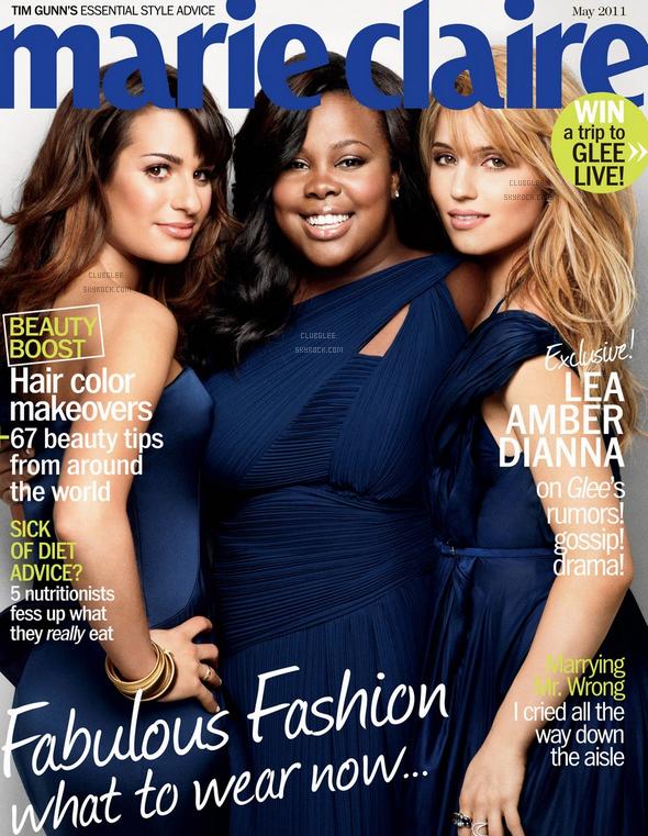 . Nos trois actrices préférées à la une du Marie Claire de Mai 2011! :) .