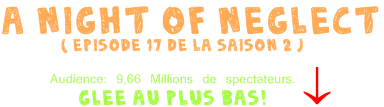 Les news de la semaine.  ♪ + A night of Neglect ( Episode 17*2)