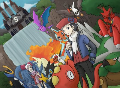 En avant pour la ligue pokemon pok mon johto - Louka pokemon ...