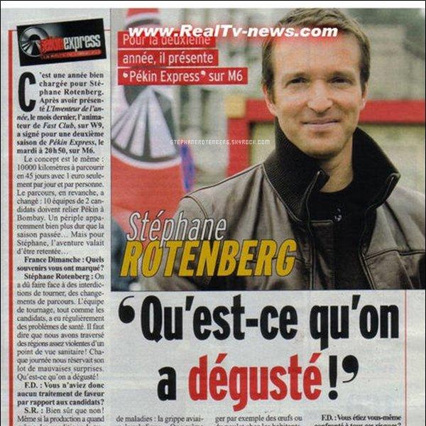 . 2007: Scan du magazine France dimanche..