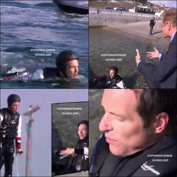 . 21/05/2012: Dans l'émission E=M6 présentée par Mac Lesggy pour tester une invention qui lui permet de voler sur l'eau..