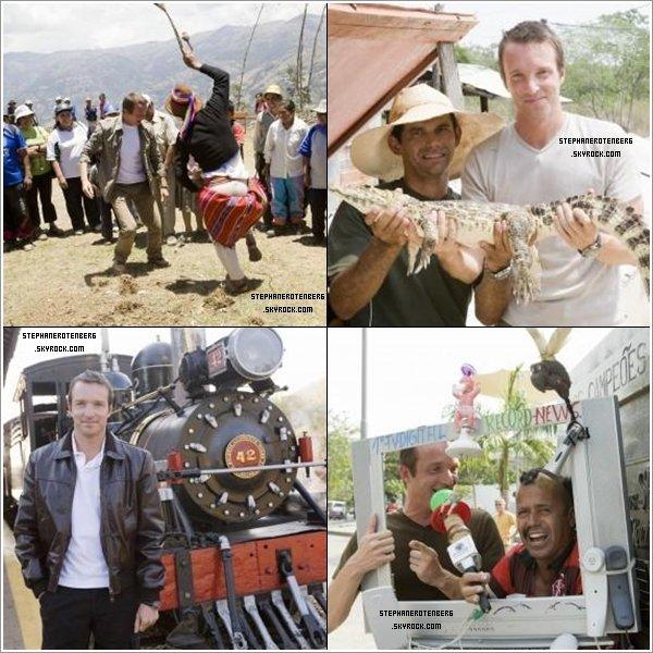 . 2008: Photoshoot de la 3ème saison de Pékin Express (PE: La route des Incas)..