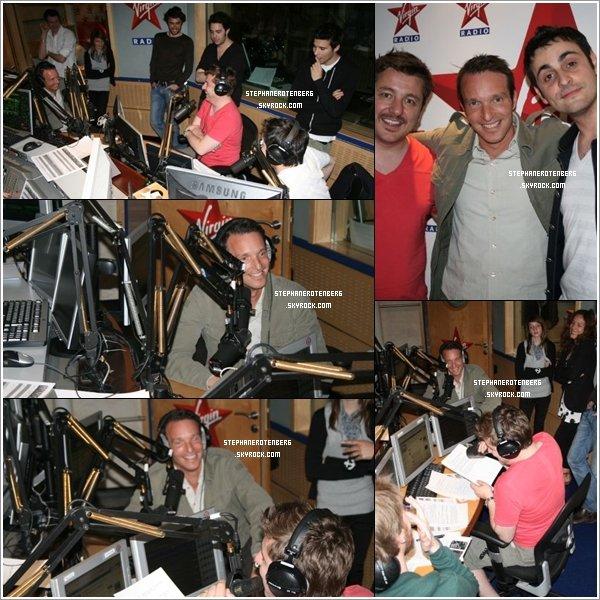 . 24/04/2009: Stéphane dans les studios de Virgin Radio..