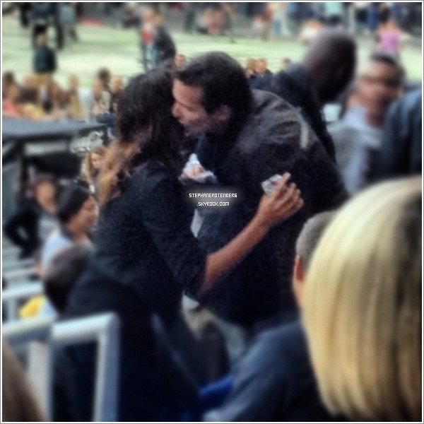 . Shy'm et Stéphane ont été vus récemment au Stade de France. (Photo trouvée ici).
