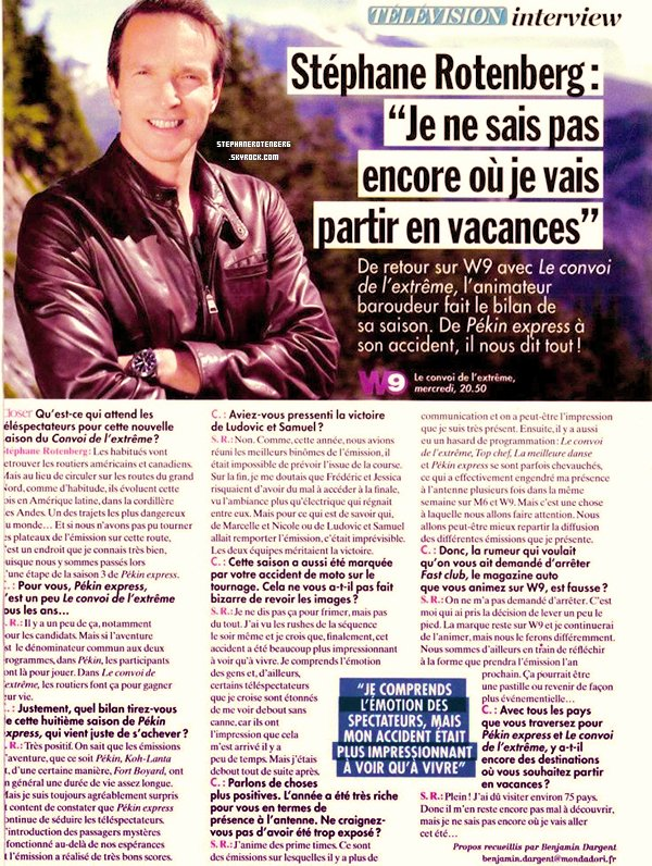 . Scan du magazine Closer datant du 13/07/2012..